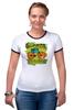 "Футболка Рингер ""Винтажный велосипед"" - америка, винтаж, реклама, велосипед, старина"
