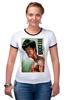 "Футболка Рингер ""Bruce Lee"" - karate, bruce lee, fighter, карате, брюс ли"