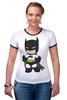 """Футболка """"Рингер"""" (Женская) """"Batman"""" - batman, бэтмен"""