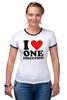 "Футболка ""Рингер"" (Женская) ""One Direction"" - one direction"