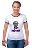 "Футболка Рингер ""Putin"" - россия, russia, путин, президент, putin"