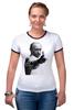 "Футболка ""Рингер"" (Женская) ""One and Only "" - путин, putin, designministry, oneandonly, patriotic"