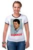 "Футболка ""Рингер"" (Женская) ""Comedy Club"" - шоу, comedy club, гарик бульдог харламов, гарик харламов, телешоу"