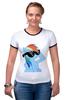 "Футболка ""Рингер"" (Женская) ""Rainbow Dash"" - rainbow dash, mlp, my little pony, пони"