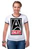 """Футболка Рингер """"Звездный Путь (Star Trek)"""" - star trek, звездный путь"""