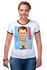 """Футболка Рингер """"Comedy Club"""" - гарик бульбог харламов, юмористическая программа, comedy club, камеди клаб, юмор"""