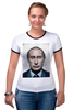 "Футболка ""Рингер"" (Женская) ""путин"" - путин, putin"