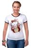 "Футболка Рингер ""Obey milkman"" - арт, авторские майки, obey, молочник"