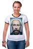 "Футболка ""Рингер"" (Женская) ""Путинизм"" - царь, king, путин, борода, putin, beard, путинизм"