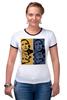 """Футболка """"Рингер"""" (Женская) """"Обама"""" - usa, обама, сша, власть, obama"""
