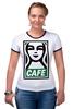 """Футболка Рингер """"Starbucks (Obey)"""" - кофе, obey, starbucks, старбакс, cafe"""
