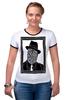 """Футболка Рингер """"DeadBroke"""" - арт, man, стиль, рисунок, hat, tie, алина макарова"""