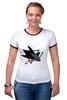 """Футболка Рингер """"Сан-Хосе Шаркс """" - хоккей, nhl, нхл, san jose sharks, сан-хосе шаркс"""