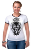 "Футболка Рингер ""Lycanthrope"" - арт, мандала, волк, оборотень, wolf, werewolf, вензель, mandala"