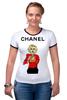 "Футболка ""Рингер"" (Женская) ""Chanel"" - прикол, юмор, духи, fashion, шанель, perfume"