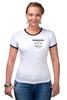 "Футболка ""Рингер"" (Женская) ""Logo rammstein"" - rammstein, рамштайн, раммштайн"