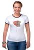"""Футболка """"Рингер"""" (Женская) """"коала"""" - сердечко, воздушный шар, коала"""