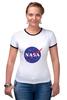 "Футболка Рингер ""Без названия"" - звезды, космос, вселенная, футболка космос, одежда космос"