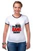 """Футболка Рингер """"the big bang theory"""" - the big bang theory, теория большого взрыва"""