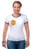 "Футболка ""Рингер"" (Женская) ""Фуболка для фанатов ""Манчестер Юнайтед"""" - футбол, спорт, эмблема, манчестер юнайтед"