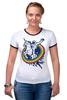 "Футболка Рингер ""Космонавт"" - space, unicorn, единорог, космонавт"