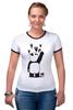 "Футболка ""Рингер"" (Женская) ""Панда вандал"" - животные, панда, panda, wwf"
