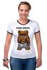 "Футболка Рингер ""Fash_Shops SWAG"" - медведь, swag, миша, fash"
