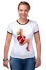 """Футболка Рингер """"Блондинка"""" - сердце, сердечко, эротика, блондинка"""