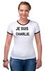 "Футболка ""Рингер"" (Женская) ""JE SUIS CHARLIE"" - france, франция, шарли, je suis charlie, i am charlie"