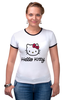 "Футболка Рингер ""Hello Kitty"" - hello kitty, хеллоу китти"