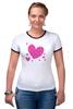 "Футболка Рингер """"LOVE"""" - праздник, сердце, любовь, розовое, девушке, девочке, сердечки"