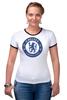 """Футболка """"Рингер"""" (Женская) """"Chelsea FC"""" - футбол, челси, chelsea"""