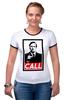 "Футболка ""Рингер"" (Женская) ""Лучше звоните Солу (Better Call Saul)"" - obey, call, better call saul, лучше звоните солу"