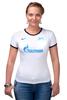 "Футболка Рингер ""FC Zenit St. Petersburg"" - зенит, санкт-петербург, zenit, fc zenit"