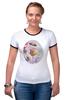 """Футболка Рингер """"Пионы и бабочки 2"""" - бабочки, цветы, весна, акварель, пионы"""