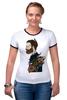 "Футболка Рингер ""Бородач"" - парень, необычно, борода, beard"