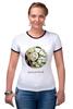 """Футболка Рингер """"Сумочка для упаковки подарка"""" - любовь, цветы, весна, свадьба, невеста, подарок, молодожены, букет, spring"""