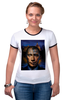 "Футболка ""Рингер"" (Женская) ""Путин vs Обама"" - америка, россия, обама, путин, президент"
