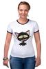 """Футболка Рингер """"«капризный кот»"""" - кот, животные, рисунок"""