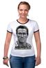 "Футболка Рингер ""Arnold Schwarzenegger"" - кино, arnold schwarzenegger, терминатор, terminator, арнольд шварценеггер"