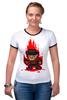 "Футболка Рингер ""Freddy Krueger (8-bit)"" - пиксель арт, pixel art, фредди крюгер, freddy krueger, 8-бит"