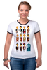 """Футболка """"Рингер"""" (Женская) """"Доктор Кто (Doctor Who)"""" - doctor who, tardis, доктор кто, тардис"""