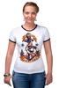 """Футболка Рингер """"Donald"""" - мультики, якорь, прикольные, anchor, donald duck, the sailor, моряк, angry bird"""