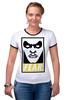 "Футболка Рингер ""Таал Синестро (Thaal Sinestro)"" - fear, obey, dc, синестро, sinestro"