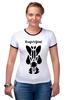 """Футболка Рингер """"Watchmen - Rorschach"""" - comics, черно-белая, комиксы, кино, cinema, черное и белое, rorschach, хранители, супергерои, socium"""