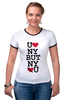 "Футболка Рингер ""U LUV NY"" - mum, ny"