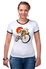"Футболка Рингер ""Star Wars"" - star wars, bicycle, велосипед, bike, stormtrooper, звёздные войны, штурмовик"