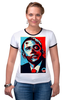 "Футболка Рингер ""Обама"" - usa, обама, сша, президент, власть, obama"