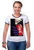 "Футболка Рингер ""Joker"" - joker, комиксы, джокер, шутка, злодей"