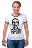 "Футболка Рингер ""American psycho(Американский психопат)"" - американский психопат, patrick bateman, american psycho, патрик бэйтман"